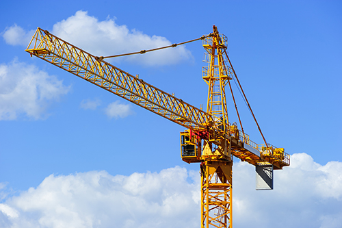 steel erection with a tower crane T5G 0V4