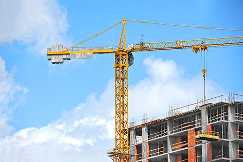 Tower crane, building erection