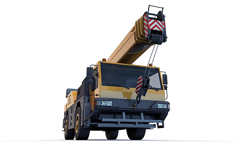 Liebherr mobile crane in Sherwood Park, Alberta