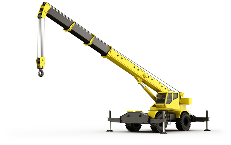 Grove rt crane for off road construction